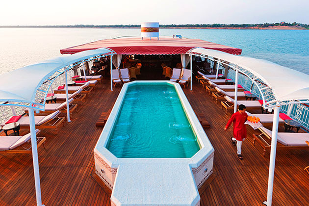 Jahan River Cruise pool deck