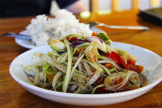 Laos cuisine in Mekong River Cruise