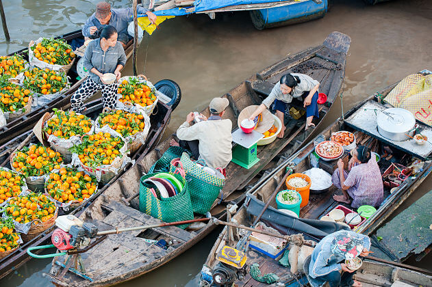 Mekong L'Amant River Cruise-Cai Be floating market