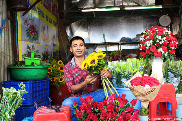 Mekong River Cruise-Ho Thi Ky flower market