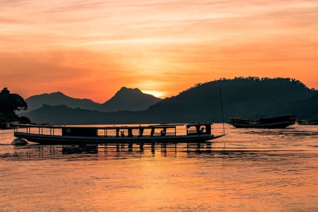 Mekong River Cruise-sunset-view