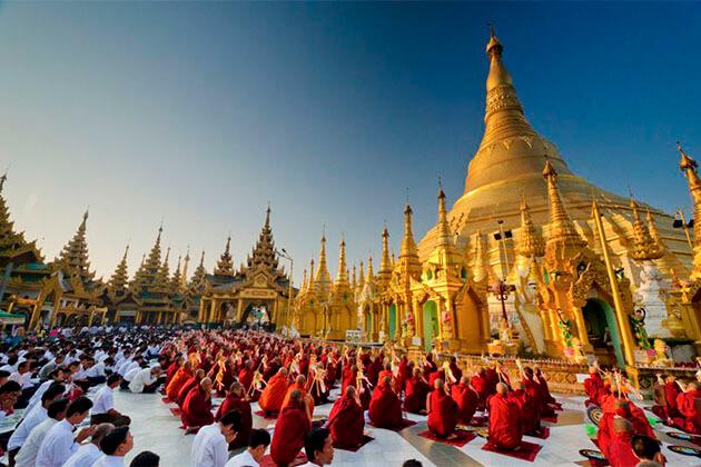 Shwedagon Pagoda Myanmar River Cruise