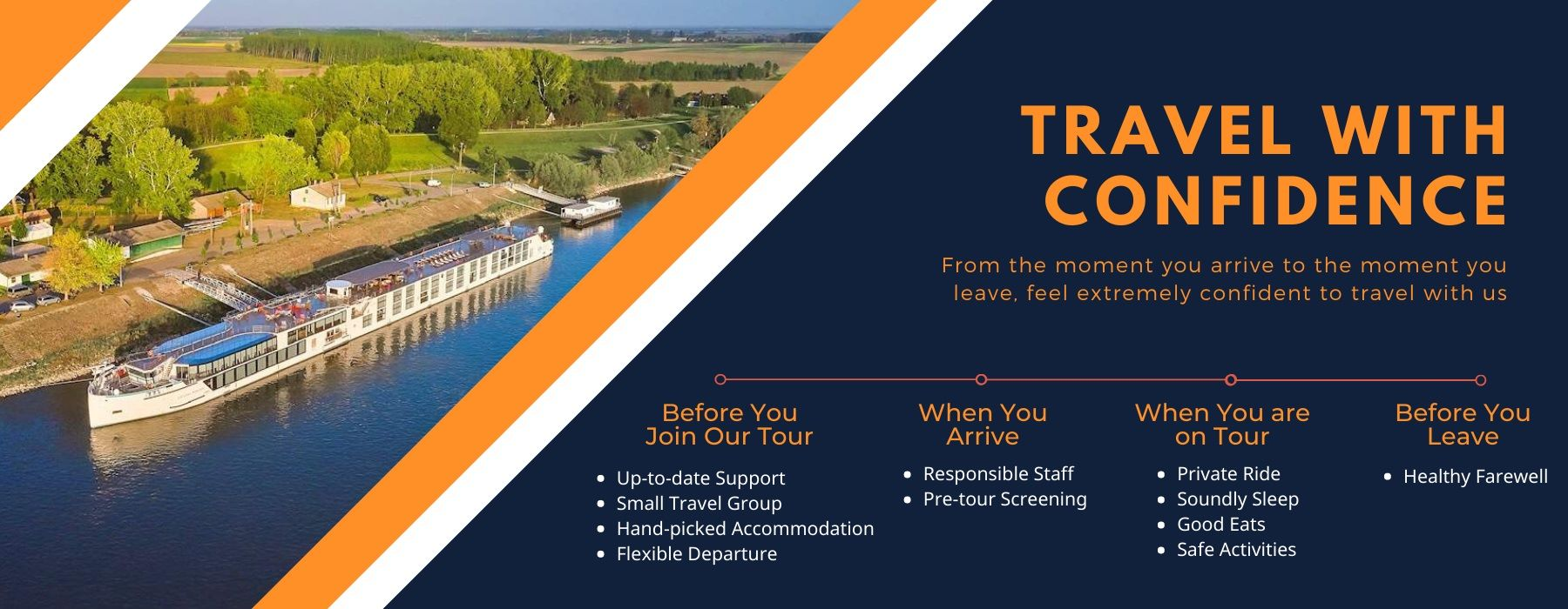 Travel river cruise vacations with Confidence