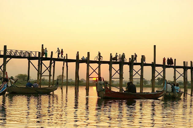 U-bein Bridge Myanmar River Cruise