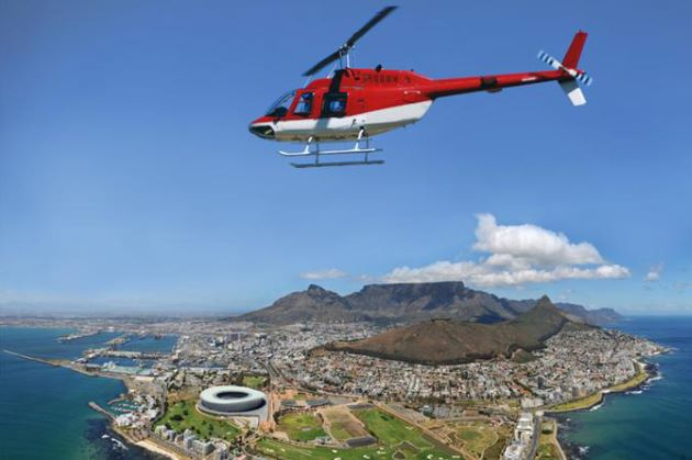helicopter tour at south africa